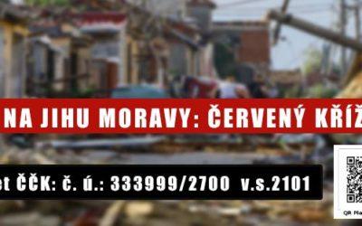 Tornádo na jihu Moravy – červený kříž pomáhá