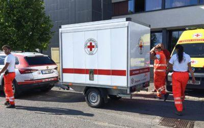 Týmy OS ČČK Ostrava pomáhají na jižní Moravě